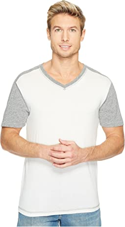 Darren Short Sleeve Color Block V-Neck Tee