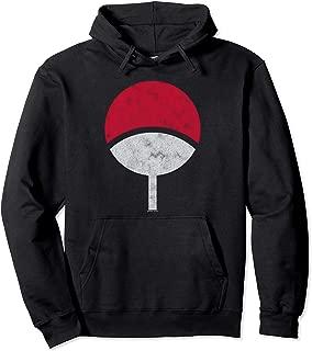 Naruto Sasuke Uchiha Symbol Distressed Pullover Hoodie