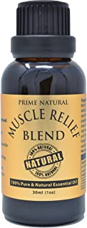 Prime Natural Muscle Relief Essential Oil Blend 30ml - Natural Pure Undiluted Therapeutic Grade for Aromath...