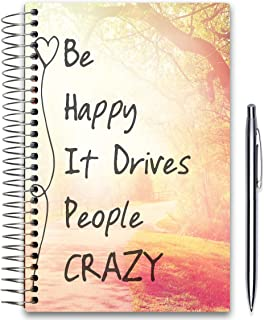 Tools4Wisdom 2020 Planner 5x8 - October 2019-2020 - Daily Weekly Monthly Hardcover Planner - Dated Oct November December 2019 Plus 2020 Calendar Year - Be Happy Hardcover