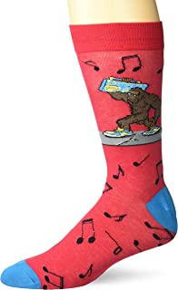 K. Bell Men's Pop Culture Slapstick Fun Novelty Crew Socks