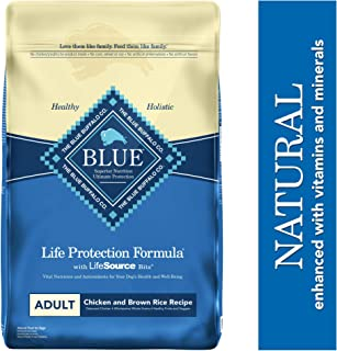 Blue Buffalo Life Protection Formula Adult Dog Food – Natural Dry Dog Food for Adult Dogs – Chicken and Brown Rice – 30 lb. Bag