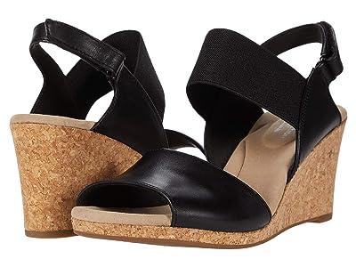 Clarks Lafley Lily (Black Leather/Textile Combi) Women