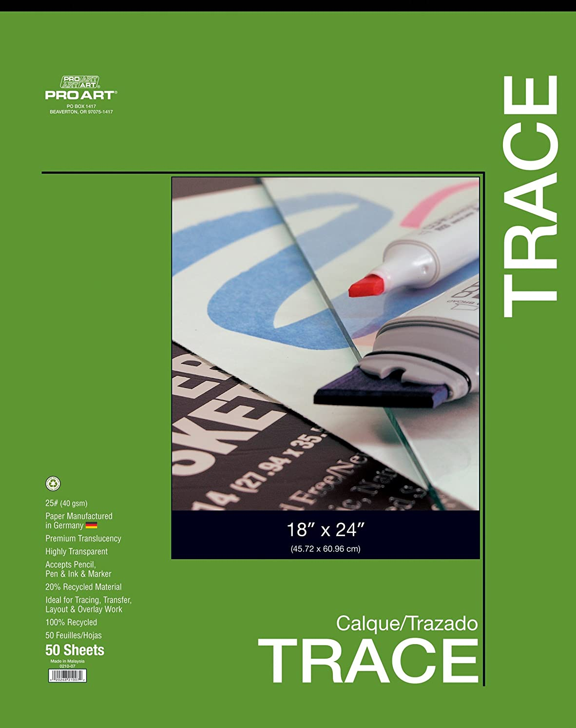 PRO ART 19-Inch by 24-Inch Tracing Pad