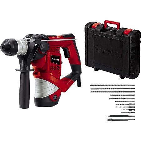 Einhell TC-RH 900 Kit Tassellatore, 900 W, 230 V, Incluso Set da 12 Pezzi per Trapano e Scalpello, in Una Valigia