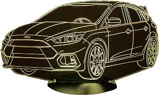 FORD FOCUS RS, Lampada illusione 3D con LED - 7 colori.