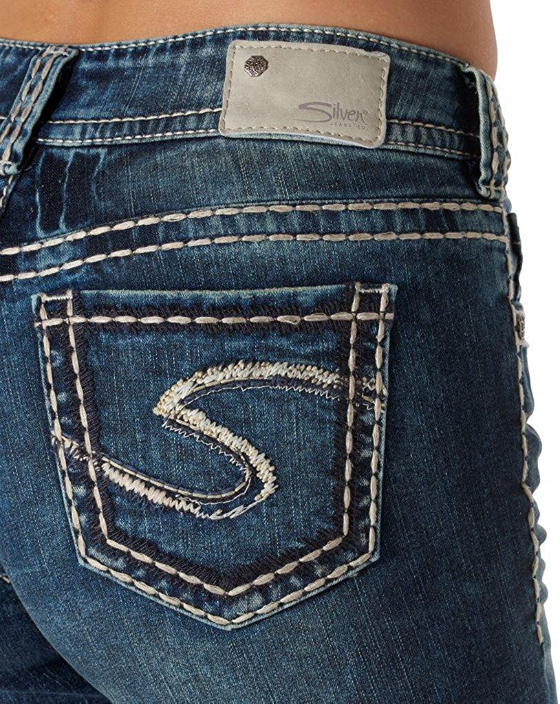 Silver Jeans Women Suki Mid Rise Slim Boot Well Defined Curve Stretch in Blue
