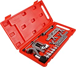 OrionMotorTech Professional Single Flaring Tool and Swaging Tool Kit for Copper Pipe/Tubing, 10-Piece
