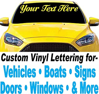 "1060 Graphics 4"" high Custom Vinyl Lettering - for Cars, Trucks, Boats, Signs, Doors, Windows, and More"