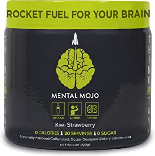 Sponsored Ad - Mental Mojo Think Tank - Nootropic Drink Mix & Brain Supplement - Boost Energy & Enhance Focus, Clarity, Me...