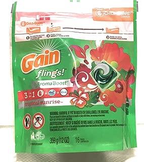 Gain Flings Laundry Detergent Pods- Tropical Sunrise-16 Count