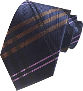 Men's Modern Tartan Checks Plaid Style Formal Ties Woven Pattern Necktie