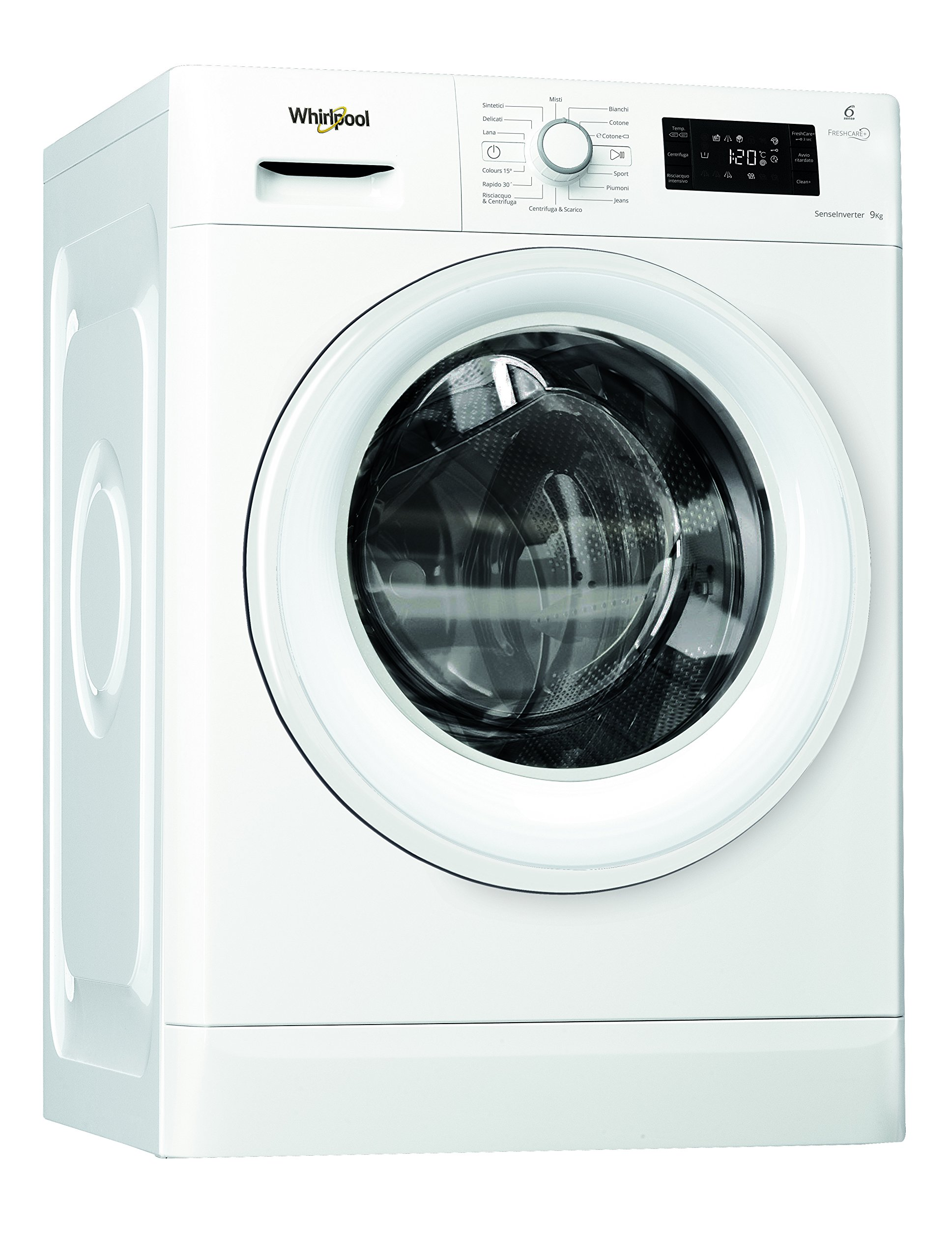 Whirlpool FWG91284W IT Independiente Carga frontal 9kg 1200RPM A ...