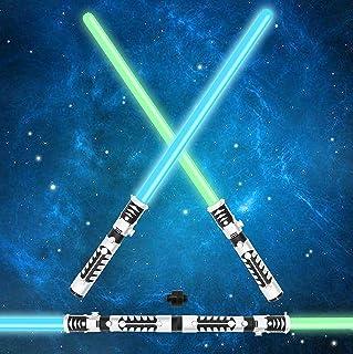 Joyin Juego de espadas láser duales 2 en 1 LED FX sable de
