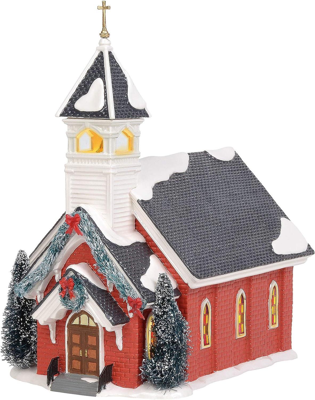 Department New Max 74% OFF life 56 Original Snow Village Olive Build Church Lit Mount