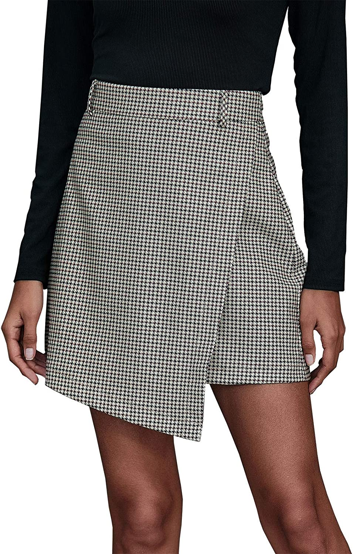 FEOYA Girls Womens Pleated Skirt Cute Schoolgirls Mini A-line Skirt Cosplay Costumes
