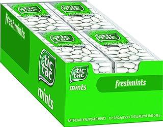 Tic Tac Fresh Breath Mints, Freshmint, Bulk Hard Candy Mints, 1 oz Singles, 12 Count, Perfect Christmas Candy Stocking Stu...