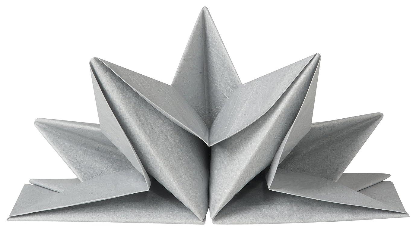 非武装化慢な東折り紙ナプキン シルバー 1782007 ND1782007