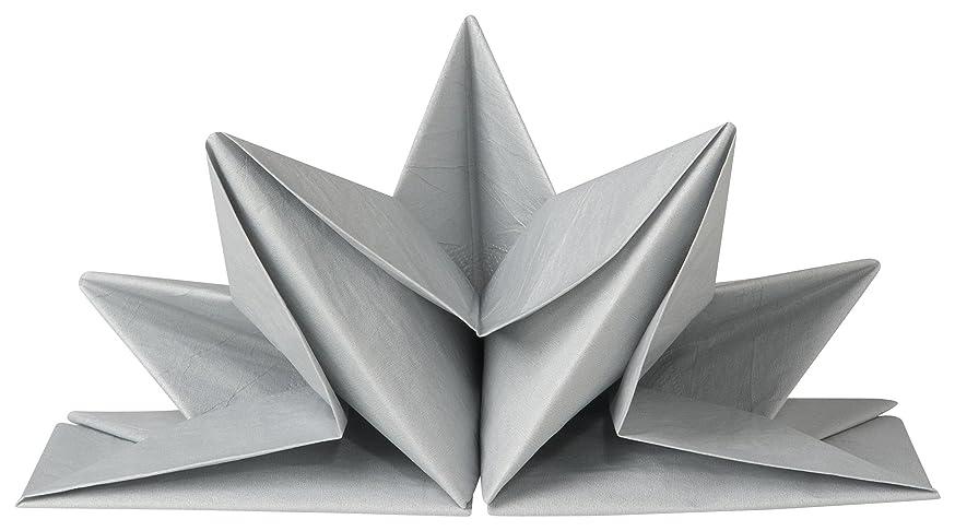 遵守する飼いならす上昇折り紙ナプキン シルバー 1782007 ND1782007