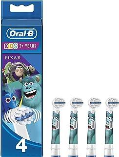 Oral-B Kids Testine di Ricambio per Spazzolino Elettrico con personaggi Disney il Meglio di Pixar, Confezione da 4, Testin...