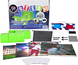 JADE Science Kit for Kids - STEM Miracles of Light and Shadow Science Experiment Kit – DIY Kit - Science Experiment kit fo...