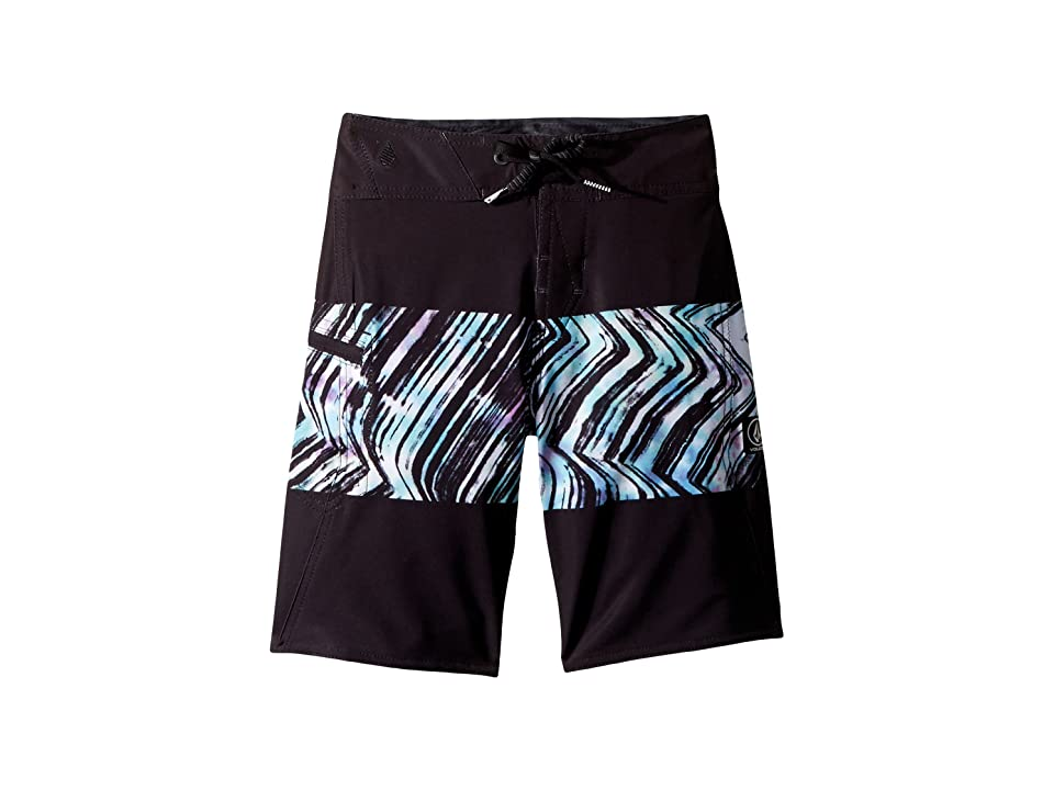 Volcom Kids Macaw Mod Boardshorts (Big Kids) (Black Combo) Boy