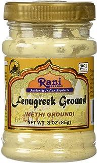 Rani Fenugreek (Methi) Seeds Ground Powder 3oz (85g) Trigonella foenum graecum | Gluten Free | Non-GMO (used in cooking &Ayurvedic spice)