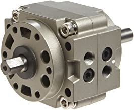 SMC CRB1BW80-180S-XN Aluminum Vane Style Rotary Actuator, Single Vane, Compact, Basic Style Mounting, Not Switch Ready, Rubber Cushion, 17 mm Rod OD, 1/4