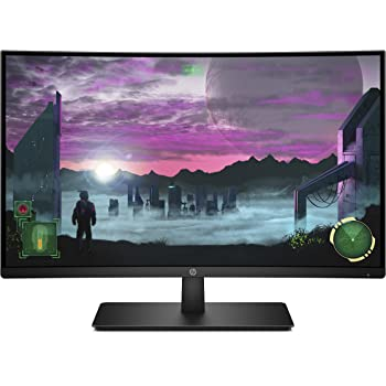 HP 27-inch FHD Curved Gaming Monitor with AMD Freesync Technology (27x, Black)