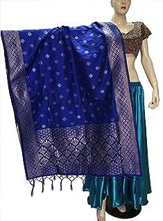 Indian Bridal Wedding Pakistani Banarasi Women Woven Cotton Silk Veil Dupatta Stole Chunni Shawl Scarf