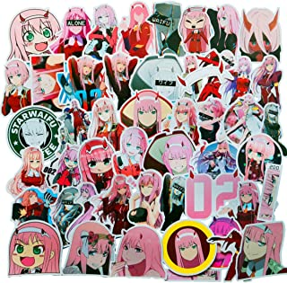 Darling in The FRANXX Sticker Pack of 50 Stickers - Waterproof Durable Stickers Classic Japanese Anime Stickers for Laptops, Computers, Water Bottles (Darling in The FRANXX)