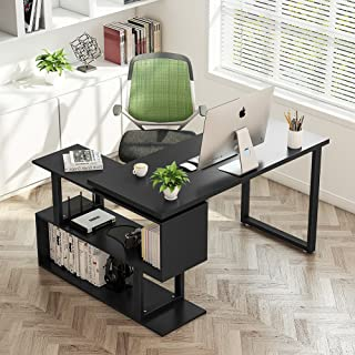 Best tribesigns modern l-shaped desk rotating Reviews