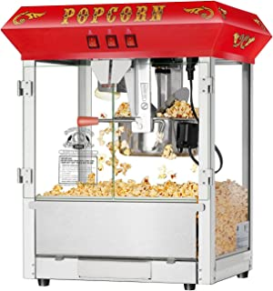 Hot and Fresh Countertop Style Popcorn Popper Machine-Makes Approx. 3 Gallons Per Batch- by Superior Popcorn Company- (8 oz., Red)