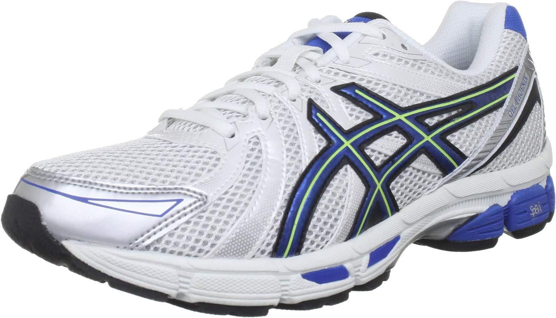 ASICS Gel Phoenix M, sautope da ginnastica Uomo, Bianco (bianca blu Neon gituttio), 44 EU