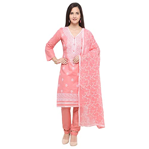 ef25bf6069ee8 EthnicJunction Women's Embroidered Un-stitched Dress Material In Cotton  Fabric (EJ1195-3001)