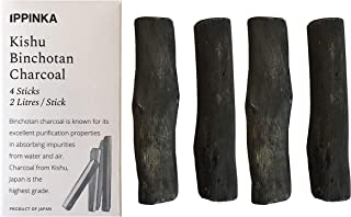 Kishu Binchotan Charcoal Sticks, 4 Sticks, 1 Stick Filters Up 2 Litres of Water