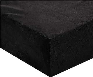 Luxe Soft Faux Fur Double Set Of 6-piece Solid Bedding Set, King size, Black, W 57.8 x H 50.4 x L 20.0 cm