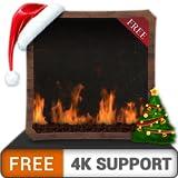 Foyer au gaz décent gratuit HD - profitez des vacances de Noël refroidies en hiver sur votre téléviseur HDR 4K, votre téléviseur 8K et vos appareils anti-feu comme fond d'écran et thème pour la médiat