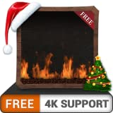 FREE Decent Gas Fireplace HD - Enjoy the Cooled Christmas Holidays in Winter on your HDR 4K TV, 8K TV and Fire Devices as a wallpaper & Theme for Mediation & Peace