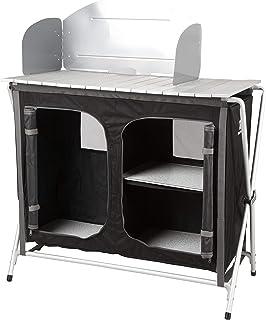 comprar comparacion KitGarden - Armario Camping con Paraviento, 88x47x80 cm, Negro, Cabinet BBQ