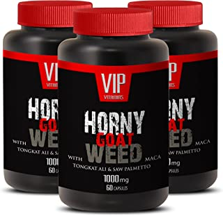 Horny Goat Weed with Maca 1000mg with Mucuna Pruriens, Muira Puama, Panax Ginseng Root and Tongkat Ali Powder for Stamina ...