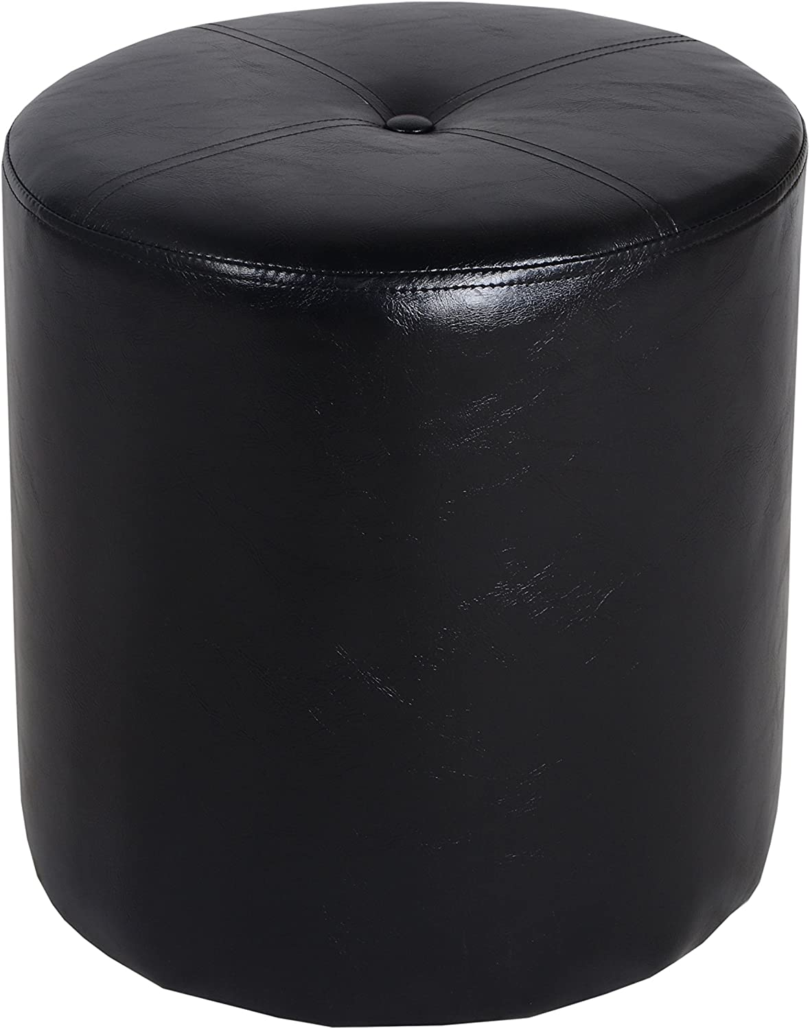 Porthos Home CH041A BLK Richard Leatherette Side Stool Black