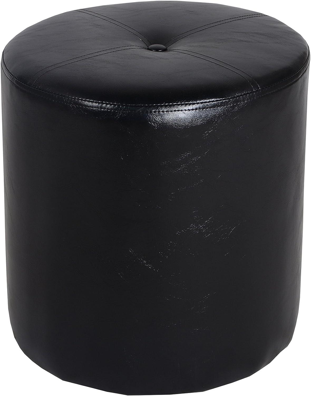 Porthos Home CH041A BLK Richard Leatherette Side Stool Black
