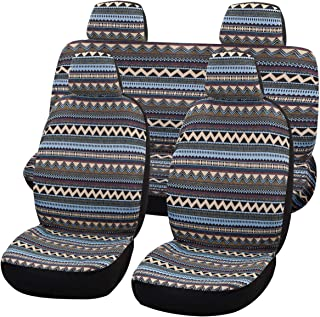 SHAKAR Bohemian Style Seat Covers Full Set- Delux Baja Blanket Car Seat Covers,5 Seats(boxi5)