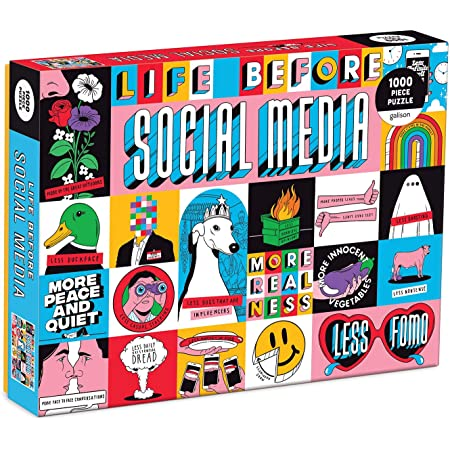 Life Before Social Media 1000 Piece Puzzle
