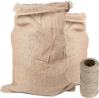 DOJA Industrial | Sac Toile de Jute 50 x 80 | Sac avec Cordon de Serrage | 2 PCS | Origine 100 % Terre Vegetale | pour Con...