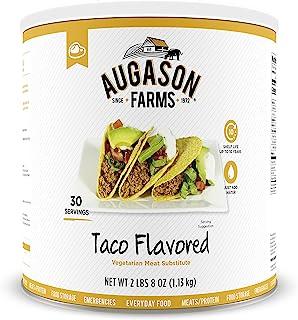 Augason Farms Taco Flavored Vegetarian Meat Substitute 2 lbs 8 oz #10 Can