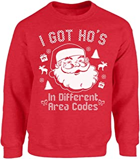 Vizor I Got Ho's in Different Area Codes Ugly Christmas Sweatshirt Xmas Sweater