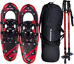 FLASHTEK 21/25/30 Inches Snowshoes for Men and Women, Light Weight Aluminum Terrain Snow Shoes