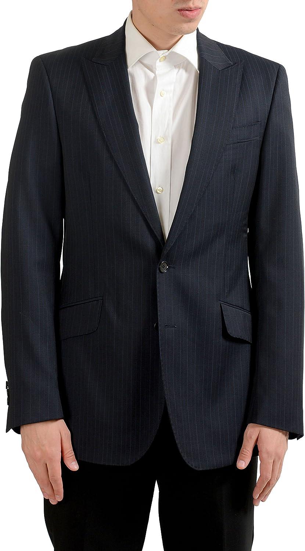 ROBERTO CAVALLI Men's Striped 100% Wool Blazer Sport Coat US 38 IT 48